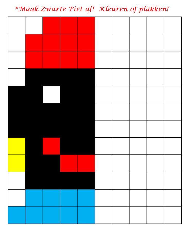 * Maak Zwarte Piet af! Kleuren of plakken!