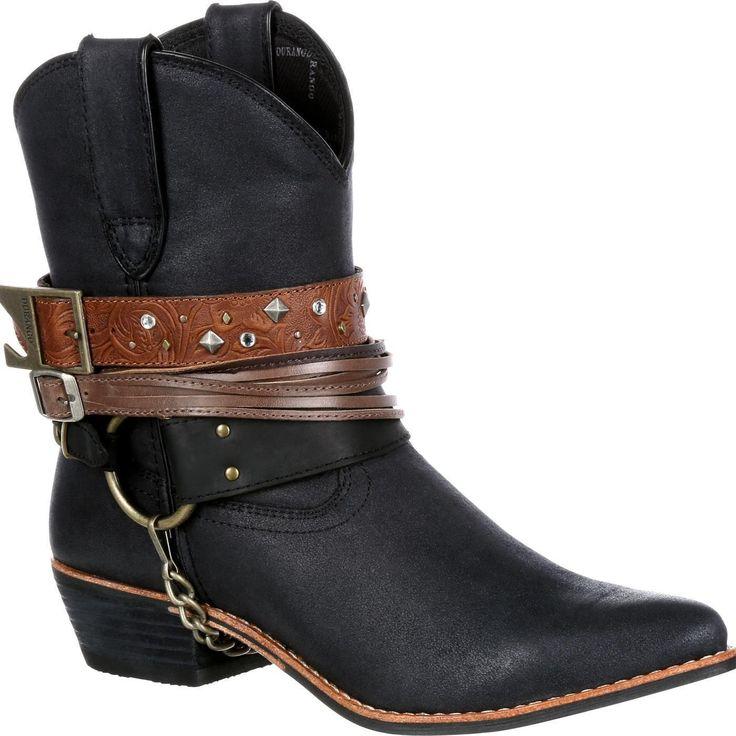 Durango Drd0120 Women'S Black Ankle Boots