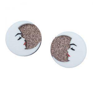 Peppy Chapette Mavis Moon Earrings (Bronze)