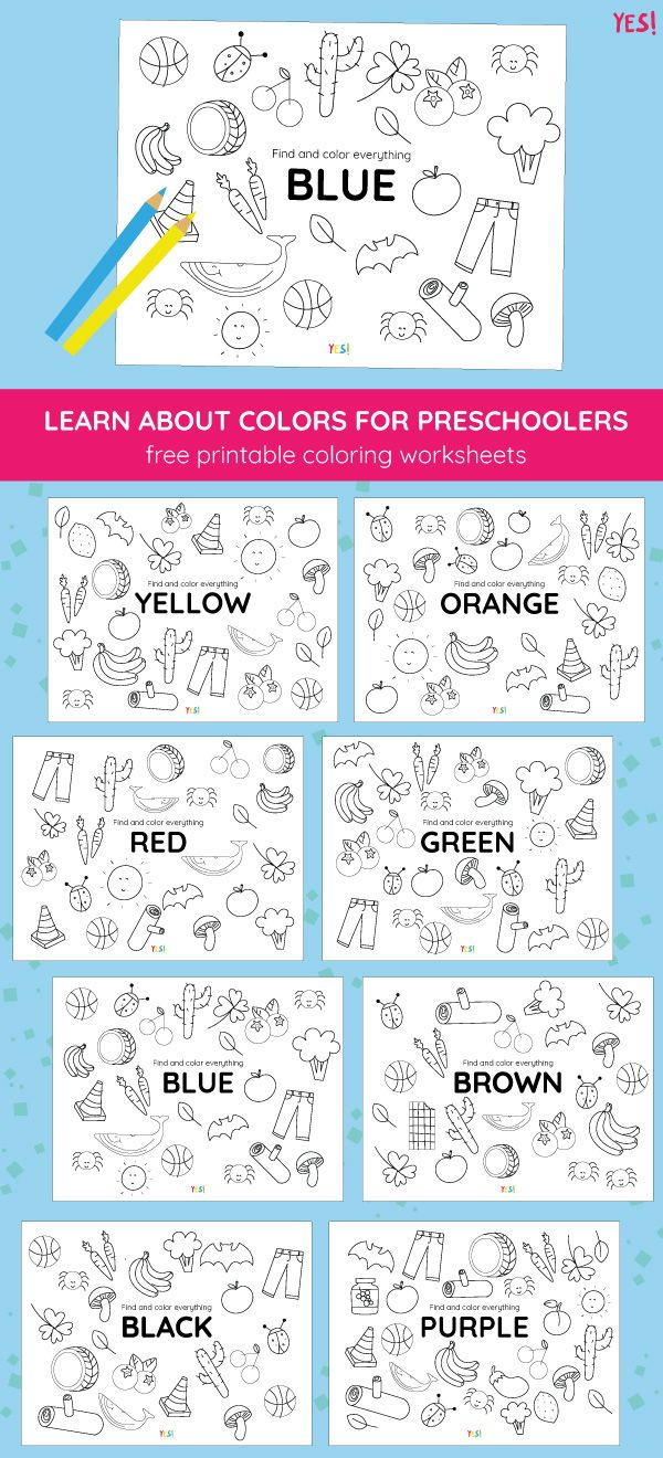 Printable Coloring Pages Of Colors Yes We Made This Color Worksheets For Preschool Preschool Color Activities Free Preschool Printables [ 1320 x 600 Pixel ]