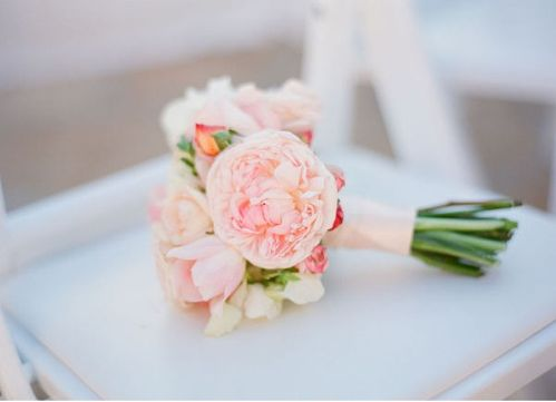 Small Wedding Bouquet. I think this size is more reasonable. I don't want to carry around a huge flower arrangement all day!