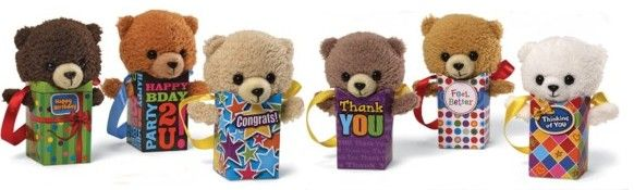 Gund do some fabulous Mini Gift Bag Teddies, that let you express yourself to your loved ones.