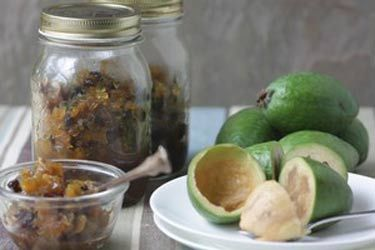 Harvest feijoa chutney recipe, NZ Herald – visit Food Hub for New Zealand recipes using local ingredients – foodhub.co.nz