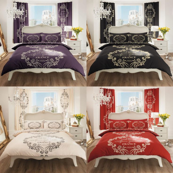Make A Single Bedroom Special With A Super Stylish: Details About Script Paris Duvet Cover Quilt Cover Bedding