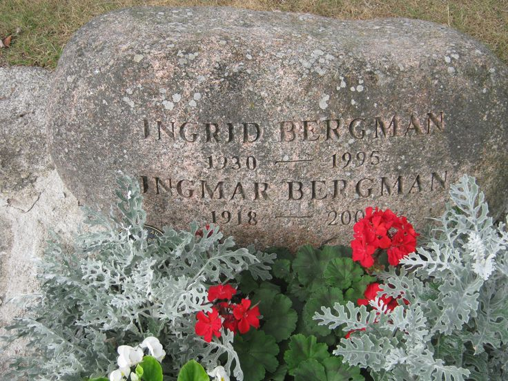 Ingmar Bergmans grave. His wife, Ingrid Von Rosen is also buried here. ( Not to be confused with the actress Ingrid Bergman ) August 2014