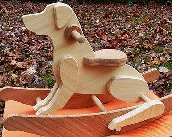 Amarillo laboratorio mecedora perro de juguete (naves gratis!) - siempre un juguete de tendencias para niños los niños y jóvenes, el mejor caballo es un perro oscilante!