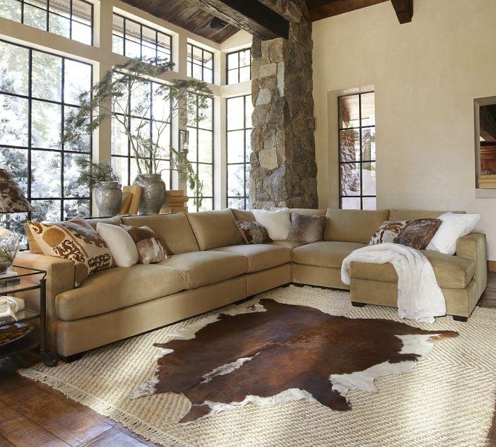 Pottery Barn Hampton Sectional Sofa - how to arrange pillows on a ...