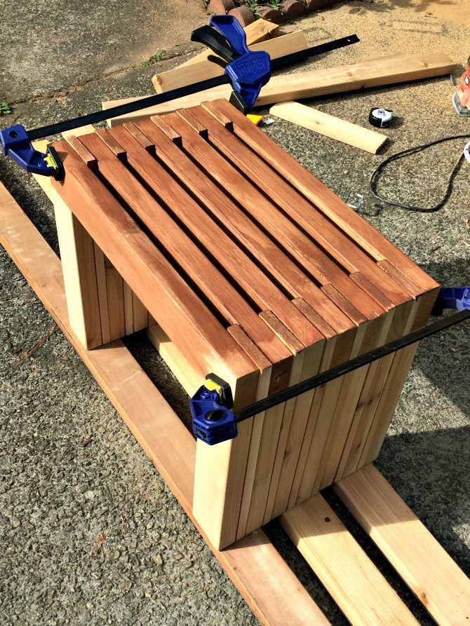 Diy Modern Cedar Bench Seat Diy Bench Outdoor Cedar Bench Rustic Outdoor Furniture