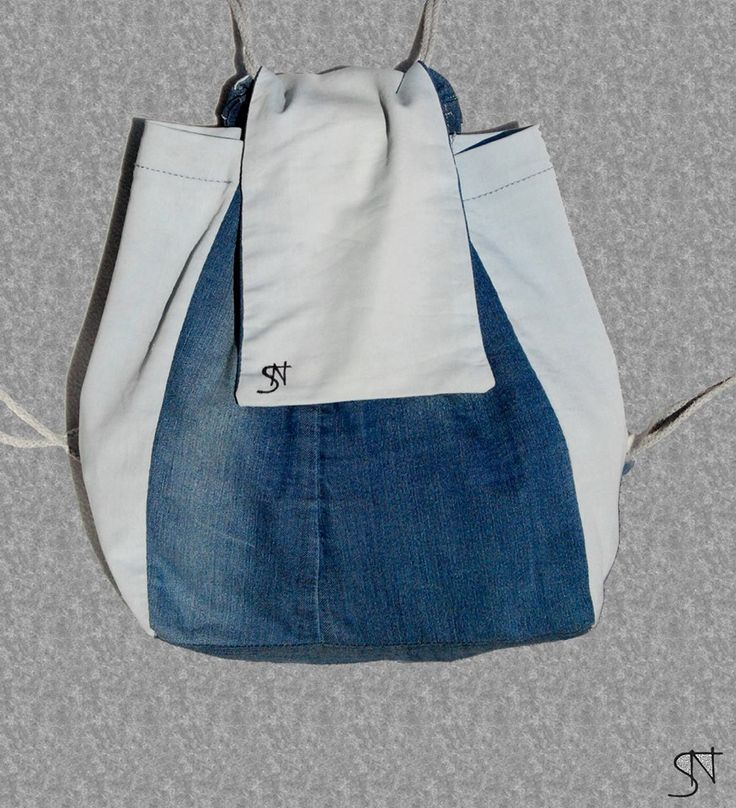 Plecak DIY DIY bag jeans recycling