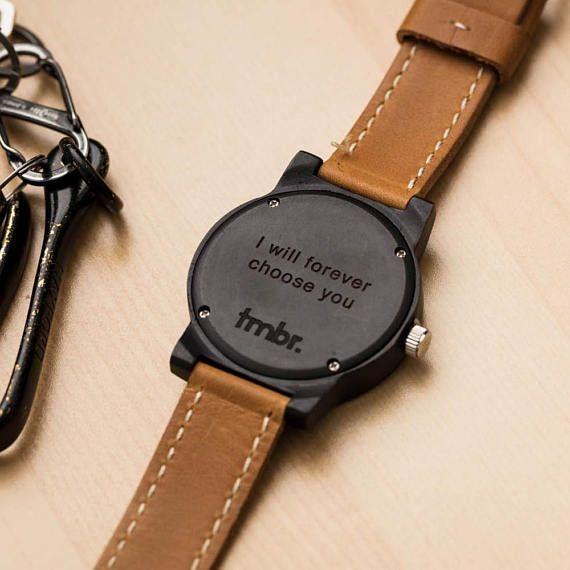 Engraved Wood Watch Men S Watch Men S Gift Custom Engraved Wood Watch Mens Watch Personalized Engraved Wood Watch Custom Watches Men Mens Anniversary Gifts