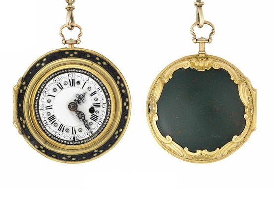 An 18th century gold, diamond and bloodstone pair-case pocket watch, by William Rapson.