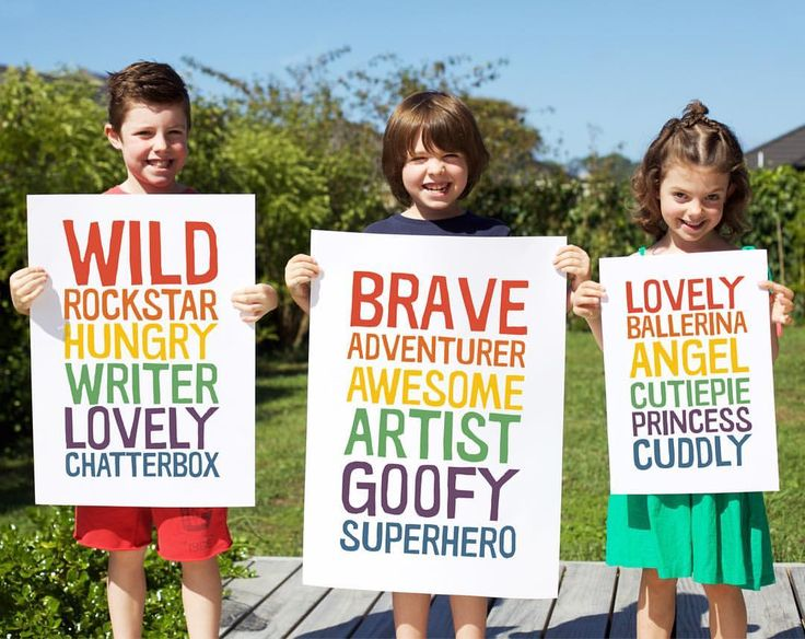 Personalised wall decor for colourful kids! Help them to make a statement about who they are!