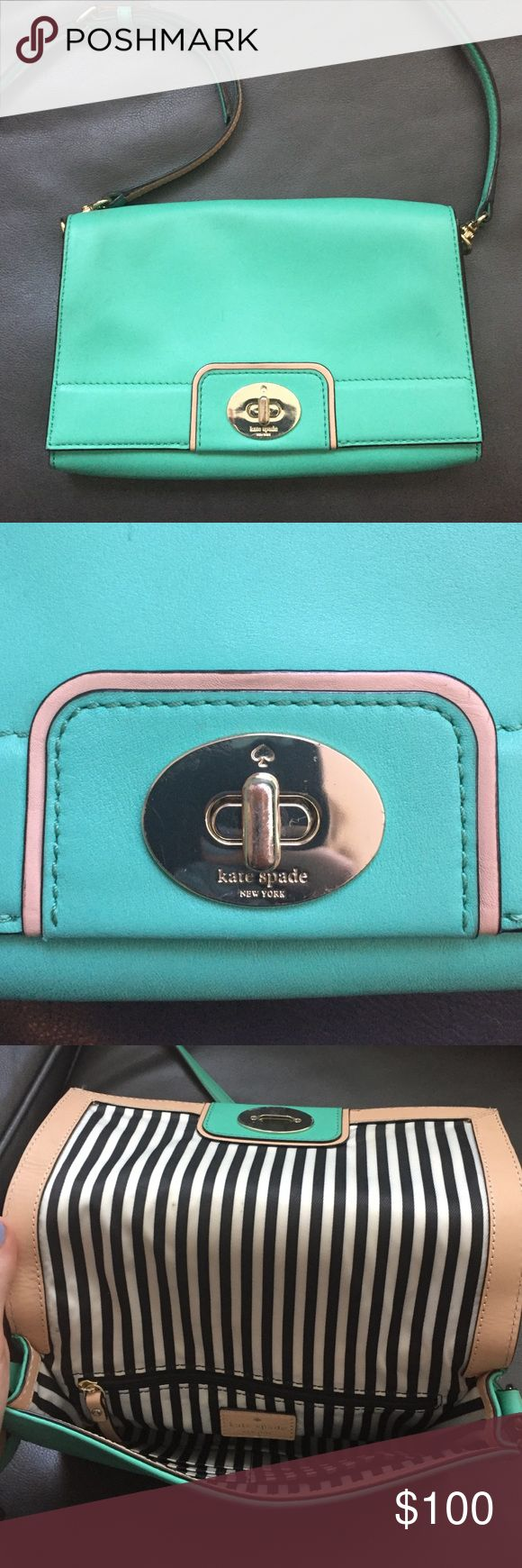 Kate Spade mint green purse Very unique color, eye-catching, and can make a statement to your outfit. kate spade Bags Crossbody Bags