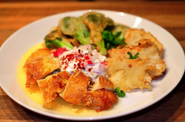 Rezept Hühnchen mit Zitronensauce, Poulet au citron, Ehrmann Naturjoghurt