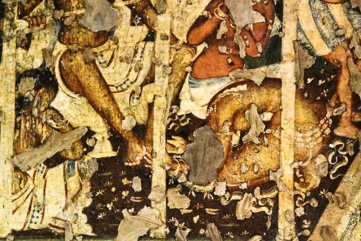 Mural painting in ajanta caves ajanta murals pinterest for Ajanta mural painting