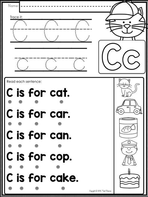 Alphabet Letter Fluency Sentences to Teach Beginning