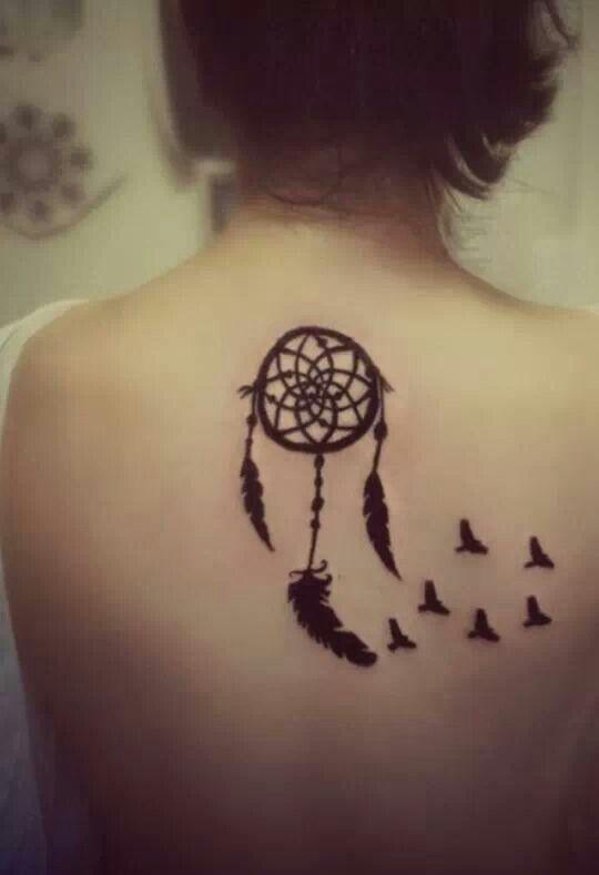 Dream catcher tattoo with birds flying | Henna-tattoos ...