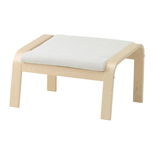 IKEA - POÄNG, Ottoman, Finnsta white, birch veneer, , Layer-glued bent beech frame gives comfortable resilience.The cover is easy to keep clean as it is removable and can be machine washed.A variety of seat cushion designs makes it easy to change the look of your POÄNG chair and your living room.10-year limited warrranty. Read about the terms in the limited warranty brochure.