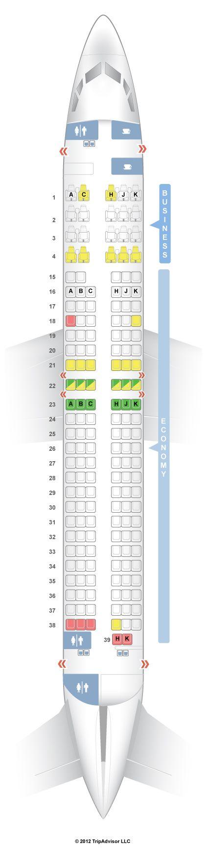 SeatGuru Seat Map Japan Airlines Boeing 737-800 (738) Domestic - SeatGuru