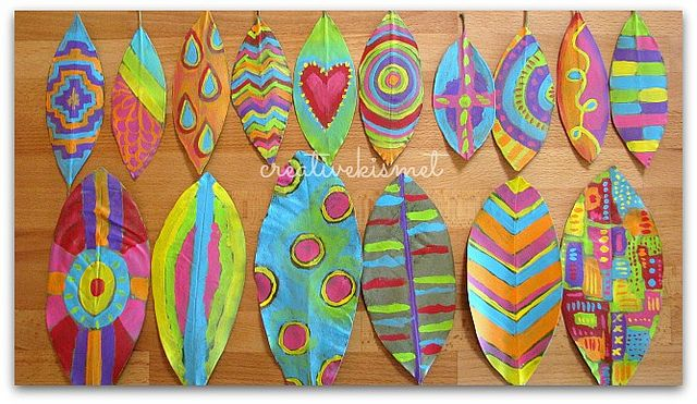 Ideas about painted leaves on pinterest leaf art