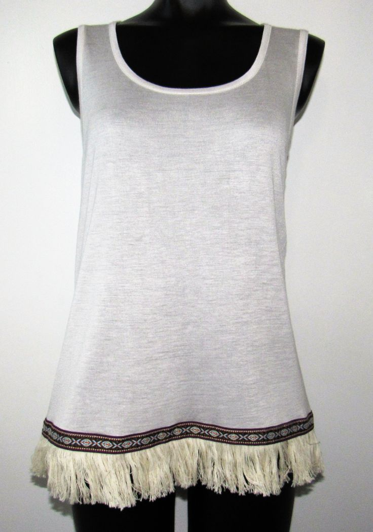 Brown Cami with Trim