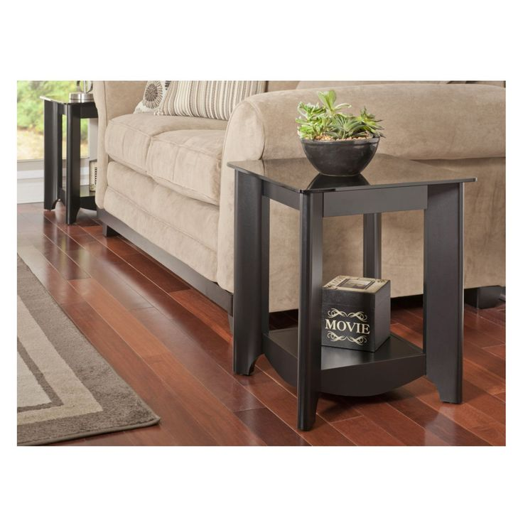 Have to have it. Bush My Space Aero Collection Classic Black End Tables - Set of 2 - $135.32 @hayneedle