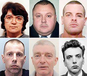 Rosemary West, Levi Bellfield, Dale Cregan Lee Newell, Ian McLoughlin and Ian Brady