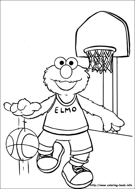 8 best coloring sheets for will's birthday party images on ... - Sesame Street Coloring Pages Elmo