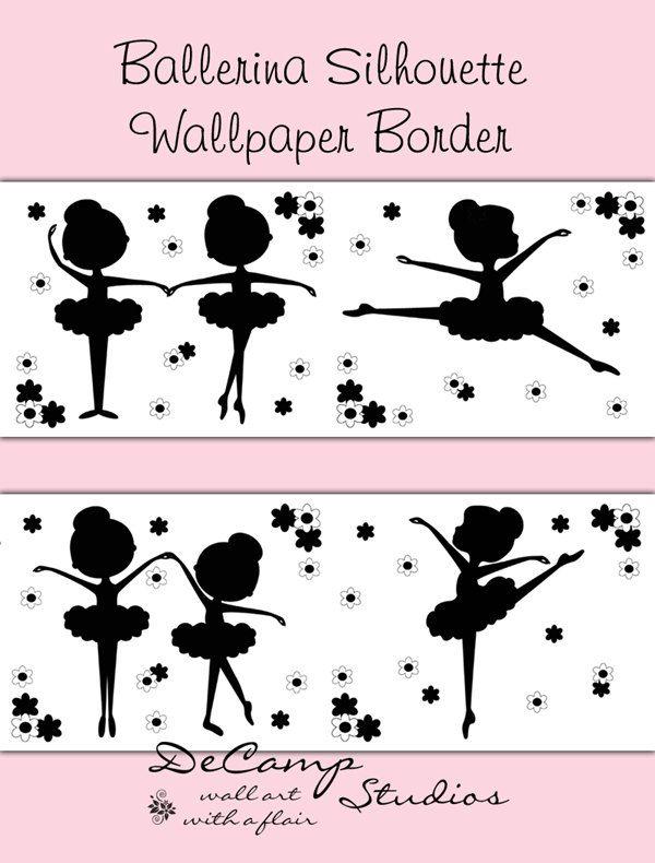 Трафарет балерины для открытки, днем рождения дочери
