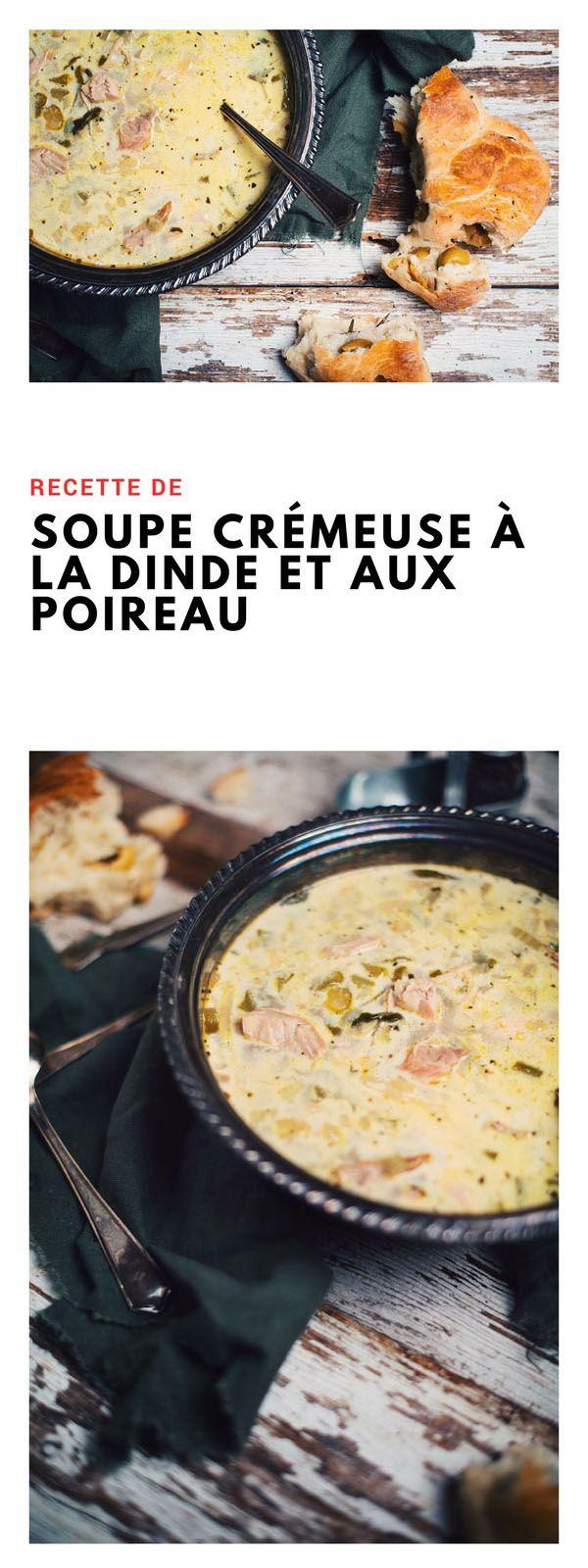 #soupe #crémeuse #dinde #poireau