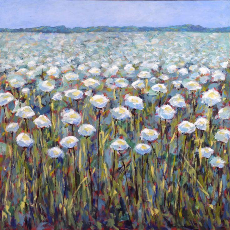 Forårsudstilling 2015 Hvid Blomstermark af Tove Holm-Petersen