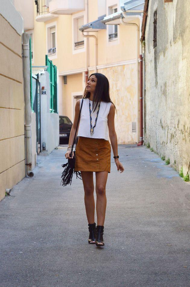 blog mode pas cher jupe en daim