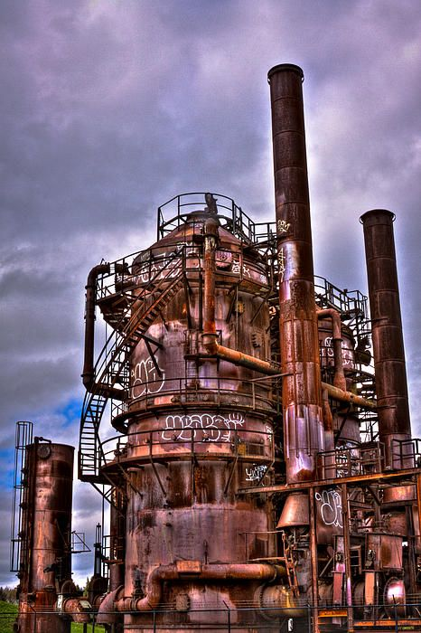 The Compressor Building at Gasworks Park - Seattle Washington
