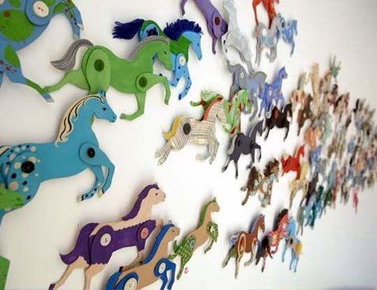 Ann Wood - 2009-Cardbpard horse stampede.jpg