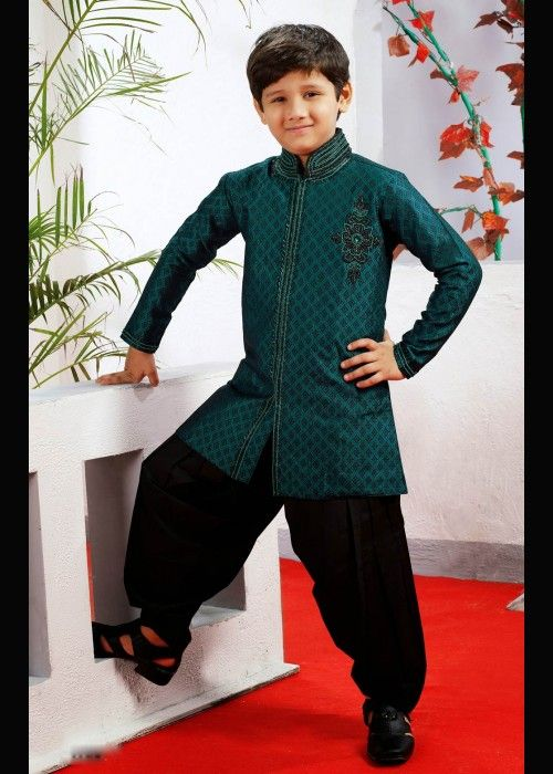 Jacquard wedding patiala sherwani for boys . Grab at - http://www.gravity-fashion.com/15891-jacquard-wedding-patiala-sherwani-for-boys.html