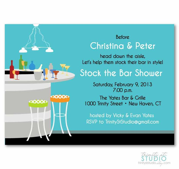10 best Stock the Bar images on Pinterest | Invites, Shower party ...