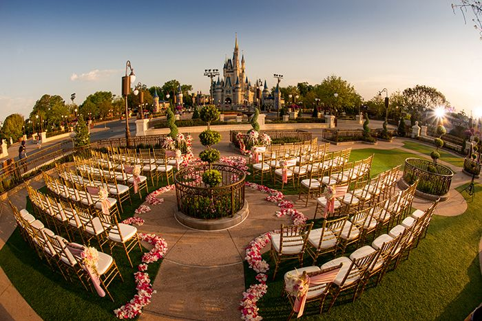 Saying I Do In Front Of Cinderella Castle East Plaza Garden Sounds Like A Fairy Tale Wish Come True Disney Wedding Inspiration