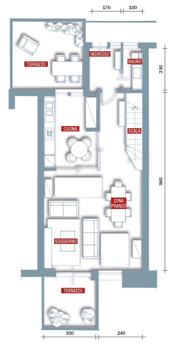 Oltre 25 fantastiche idee su planimetrie di case su for Monolocale dwg