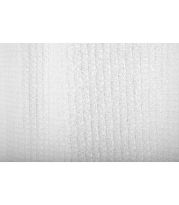 Rideau de Douche en Tissu Blanc Crème Nid d'Abeille -180 x 200cm