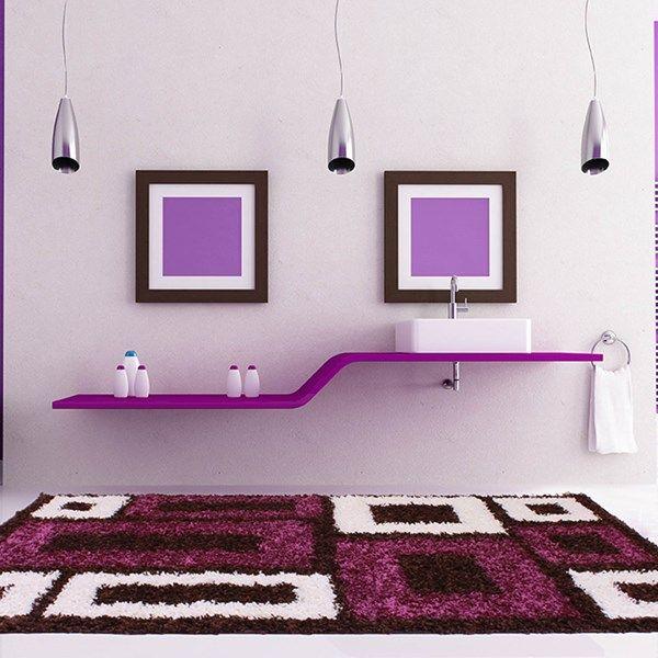 183 besten purple rugs bilder auf pinterest | mosaik-designs ... - Modernes Schlafzimmer Interieur Reise