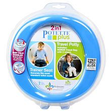 Potette Plus 2-in-1 On-The-Go Travel Potty & Trainer Seat - Blue