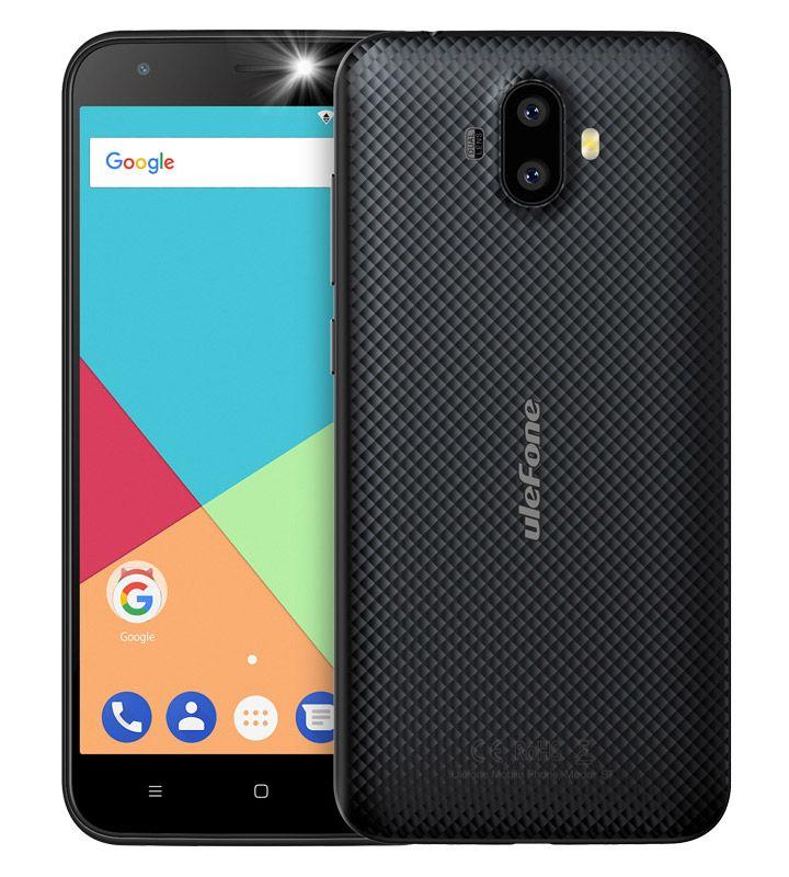 """ULEFONE Smartphone S7, 5"""" HD, 2GB/16GB, Quad Core, Dual Cameras, Black S m a r t p h o n e s"""