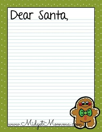 FREE Santa Letter Printables No need to buy santa letters, just print these free santa letters and have the kids write their wish lists for santa.