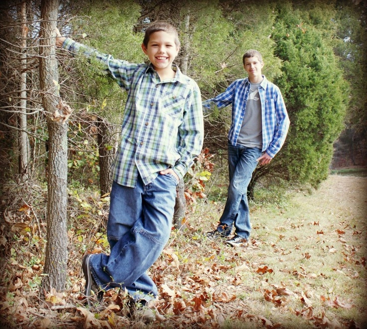 Family photo, Photo of Brothers, Walk in Woods Series, Taken by Tenia Deen Calhoon, Beyond the Lens Photography