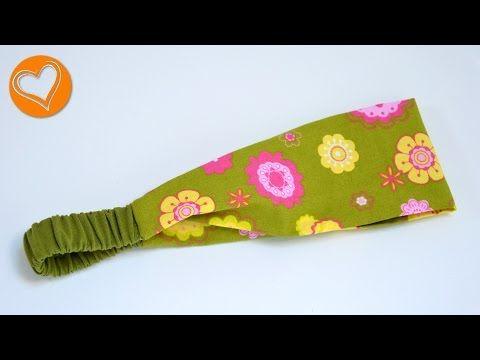 Kurz-Tutorial: Haarband aus Baumwollstoff nähen in 15 min (auch für Anfänger) - YouTube