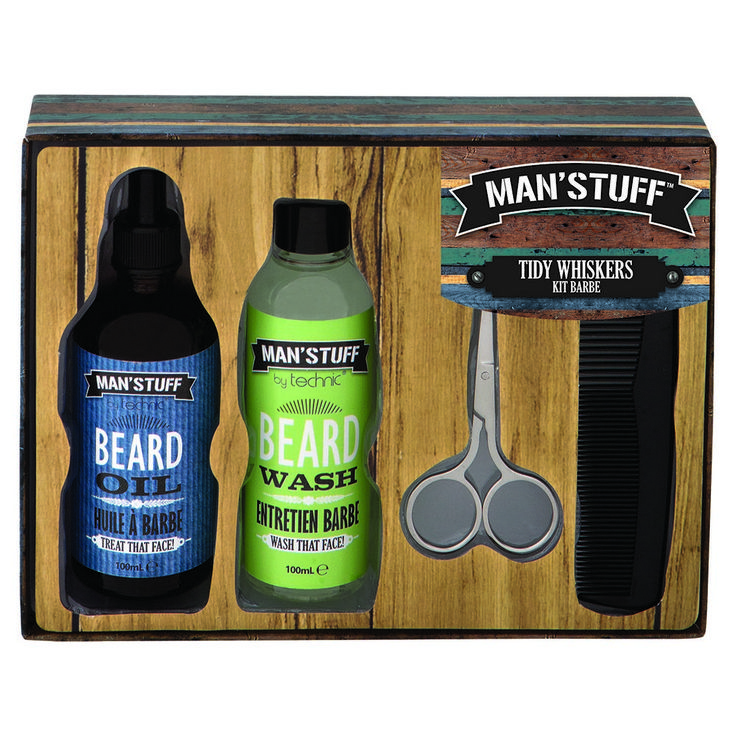 The perfect gift for a guy who likes styling his face fuzz!
