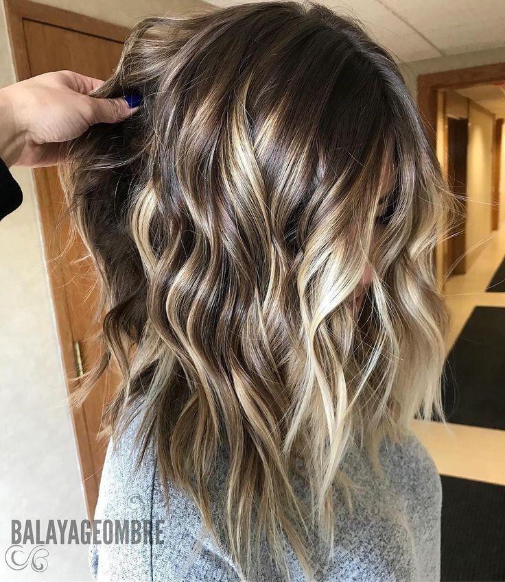 10 trendige braune Balayage-Frisuren für mittellanges Haar 2019