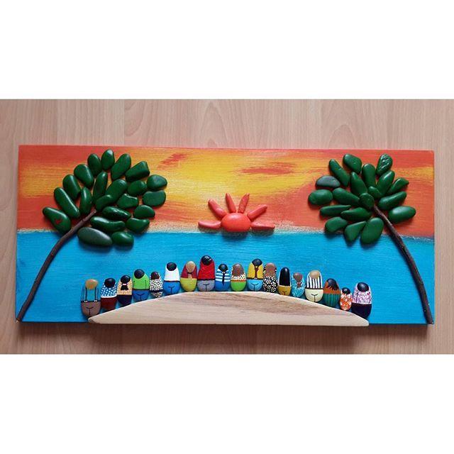 Günaydınn #hediyelik #duvarsüsü #sevimlitaşlar#art #taşboyamasanati #sanat #taş…