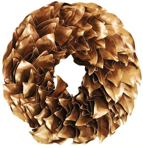 Gold Lacquer Wreath-Available in Three Different Sizes www.wellappointedhouse.com