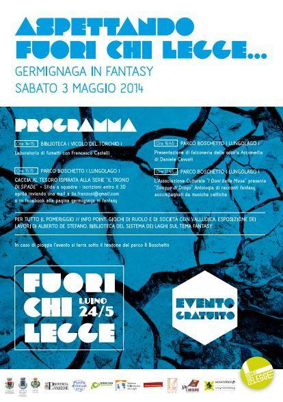 ASPETTANDO #FuoriChiLegge #Germignaga in #fantasy 3.05.2104
